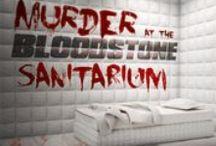 Murder at the Bloodstone Sanitarium - Halloween Murder Mystery Party Game / Murder at the Bloodstone Sanitarium - Halloween Murder Mystery Party Game by My Mystery Party at http://www.mymysteryparty.com