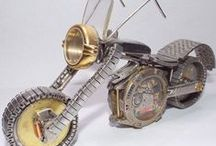 My Watch Part Motorcycles / Motorcycles made from old watch parts.