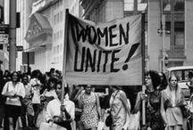 Féminisme. / Vous voulez être libre est aussi envie de libérer les autres. - Simone de Beauvoir.