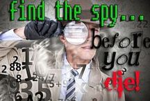 Find the Spy Mystery Party / Exciting mystery party game - unique, one of a kind 'find the saboteur' game. Ages 13+ for difficulty - non-murder mystery party for 8-12 guests. http://www.mymysteryparty.com/fispybeyoudi.html