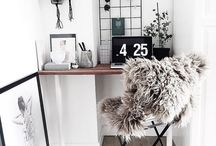 Home Office Decor / Organization, decor and furniture hacks for the home office. Find design inspiration through all-white offices, clean desk setups and other brilliant work-from-home solutions.