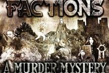 Factions: A Murder Mystery Party Game / www.MyMysteryParty presents a one of a kind murder mystery game - Factions. You and your guests will sort into one of the four factions on Earth for a night of mystery, intrigue and murder. Vampires, Sorcerers, Werewolves and Humans will try to come together to save the Earth...but will they overcome their differences?   This party may be hosted at any time of the year, but works great on Halloween, as well!