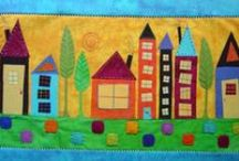 Fusing Fabric / A lovely lady, Margaret Beale, is the founder of this fascinating new craft form. Educated in Embroidery, she accidentally discovered this process during her studies. Try it for yourself, it's great fun! / by Lilly Vass