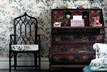 Color Inspiration - Historic Interiors / A collection of Revitaliste's favorite historic colors interiors inspiration