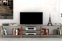 #Consolas y muebles Tv / Consolas y muebles tv de diseño en madera maciza