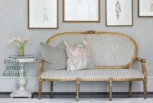 Upholstered Sofa | Love Seat Inspiration / A collection of Revitaliste's favorite inspirational upholstered sofas, couches and love seats