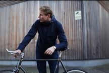 Menswear AW/15 / The London Collective AW/15 range has been designed with cyclists in mind. The jackets and bags have been inspired by classic British looks with LED lights integrated into the designs, and packed full of cycling specific functionality.