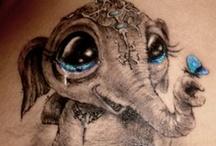 Tattoos - Elephants ☠ / by Tattoo Harley Mamma