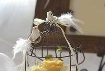 鳥かごのリングピロー/ブリーズ [ wedding ring pillow ] / プリザーブドと造花でフラワーアレンジした鳥かごのリングピロー [ wedding ring pillow ]