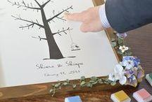 ウェディングツリー/シュエット [ wedding tree / guest book ] / ウエディングツリー・かわいい切り絵風でガーリーテイストなウェルカムツリー・80人〜100人まで対応の切り絵風のウエディングツリー [ wedding tree / guest book ]