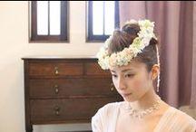 ブーケ&ブートニア・花冠・リストレット/アンジュ [ wedding bouquet ] / 綿のように柔らかく、羽のように軽い。そんなイメージでお作りしたアンジュ。パステルカラーの華やかな色合いが、花嫁様の優しさを引き出してくれそう。 [ wedding bouquet ]