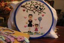 benimkiler  // made by me / cross stitch, crochet