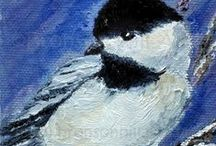 Bird Squares / A collection of paintings of birds by BEDeuel