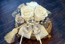 リングピロー/ライツ ring pillow / プリザーブドフラワーを沢山使った豪華で魅力的なリングピロー。