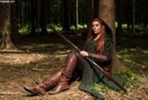 Tauriel Archer dress and travelling cloak Cosplay by FILMKOSTUEME.CH / everything around my Tauriel cosplay project: work in progress, reference pics, accessory, and so on....
