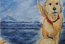 Pet Portraits from Bronson Hill Arts / Sharing various pet portraits Bronson Hill Arts has been commissioned to do. http;//bronsonhillarts.com/