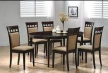 Dining Room Tables / Browse Wide variety of dining room set styles. 4, 6, 8 piece. Modern, contemporary, formal, leather, traditional, rustic, ... http://topdiningrooms.blogspot.com/2013/10/best-dinning-room-table-sets.html / by dining rooms