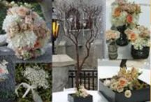 Peach Weddings / Each pin is a collage of peach wedding flowers for wedding ceremony and reception