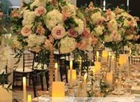 Head Tables / Different wedding reception decorations and wedding flowers for the head table where the Bride, Groom, and wedding party sits