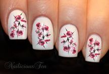 Stamping/Decal Nail Art / A collection of nail art using stamping and decals.