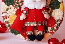 Encantos e Inspirações de Natal em Feltro / A magia do natal em feltro!! Enfeites encantadores e inspirações para um natal com muito feltro!! Inspire-se!!