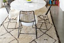 Tulip Table/ chair combinations / The somewhat ubiquitous but timeless classic dining table with a variety of chair types