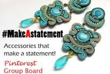 #MakeAstatement **ACCESSORIES GROUP BOARD** / This is an ACCESSORIES ONLY GROUP BOARD!  Be Bold! Let it sparkle and shine! Let your style MAKE A STATEMENT!!!! Please only 5 pins a day. No SPAM! You are welcome to promote handcrafted & artisan accessories.  **For invite please go to my profile (www.pinterest.com/adrienneadelle1) and signup on a the group invite message board** Link here: https://www.pinterest.com/adrienneadelle1/group-board-signup-sheet-for-group-boards-by-flirt/
