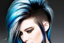 blue hair / le bleue est une couleur chaud