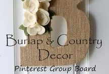 Burlap and Country Decor - Shabby Chic Love! Group Board / Beautiful Rustic Home and Wedding Decor! Group Pin Exchange hosted by Adrienne Adelle. www.etsy.com/shop/chicburlapboutique Please only 5 pins a day. No SPAM! You are welcome to promote rustic country wedding and home decor. **For invite please go to my profile (www.pinterest.com/adrienneadelle1) and signup on a the group invite message board** Link here: https://www.pinterest.com/adrienneadelle1/group-board-signup-sheet-for-group-boards-by-flirt/