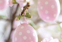 Påskebord – Easter dots / Inspiration til påskebordet
