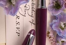 Wedding Stationery PLOOMS loves / We have chosen the stationery a PLOOMS fountain pen would want at its wedding!
