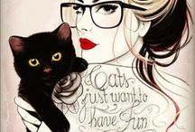 Crazy Cat Lady >^..^< / by Jessica Quint