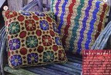crochet pillow&cushions