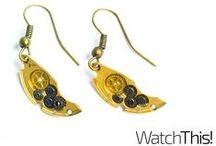 Watch This! Earrings / Upcukling earrings. Do not hear the chirping of these watches .