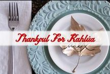 Thankful for Kahlua / There's so much to love about Thanksgiving: family, friends, and of course food! As we ramp up for the holiday season, Kahlua wants to share the love with recipes and ideas to remind us that it isn't winter just yet! / by Kahlua