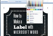 Labels / Great labels to help you get and stay organized!  Also tutorials for creating your own labels.