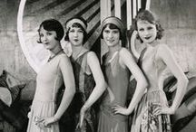 """1920s / The Roaring 20's. The 1920s regarded as a boisterous era of prosperity, fast cars, jazz, speakeasies, and wild youth (flappers). Referred to as """"roaring"""" because of the exuberant, freewheeling popular culture of the decade. The Roaring Twenties was a time when many people defied Prohibition, indulged in new styles of dancing and dressing, and rejected many traditional moral standards. / by Earth Provides"""