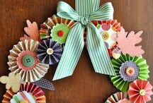 PAPER WREATHS / Seriously!  Pick one and sit down with a great movie and a glue gun.  More fun to make than one can imagine. / Rene' Kimzey adlı kullanıcıdan