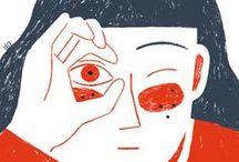 Illustrations / Des images dessinées, peintes, crayonnées, esquissées - un beau coup de crayon, le sens des couleurs, une sensibilité