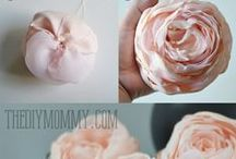 CRAFTS: Flower Fancies (to make). / Making flowers with all sorts of mediums...
