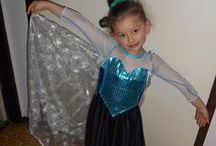 MY STUFF: Frozen Adventures / My grandaughters and great niece are totally obsessed with the film FROZEN, so I have made ELSA  & ANNA dresses and dolls for them.
