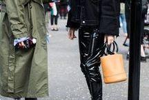 Lackleder, PVC & Vinyl | Trend Outfits / Lackleder, PVC & Vinyl bringen im wahrsten Sinne des Wortes Glanz in jeden Look. Diese Outfits zeigen, dass das edle Material schon lange nicht mehr für Fetisch, sondern vor allem für tolle, modebewusste Styles steht.