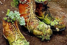 Craft Ideas--Wind Chimes, Wreaths, Yard Art  / by Lisa Stringer