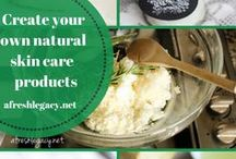 Natural Skin Care / DIY Aromatherapy skin care recipes. Natural skin, beauty and home care products that you can make yourself