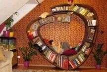 Reading Spaces and Places / Great places to read and store your books!