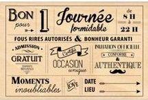 Jolie papeterie / Jolis faire parts, save the date