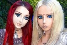 Valeria Lukyanova & Anastasiya Shpagina - human dolls / I honestly can't believe people spend million on looking like a cartoon or Barbie, you were made human for a reason!!! But they look so like dolls!