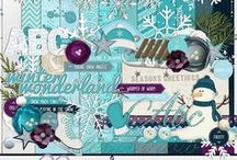 Baby, It's Cold Outside / Digital Scrapbook Kit available at >> http://melidydesigns.com/shop