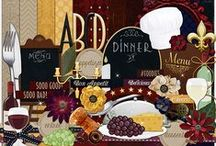Wined & Dined / Digital Scrapbook Kit available at >> http://melidydesigns.com/shop