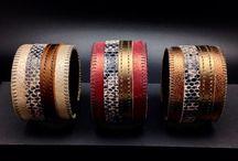 Manchettes par Brod&Moi / Création du bijoux manchettes en cuir et dentelle